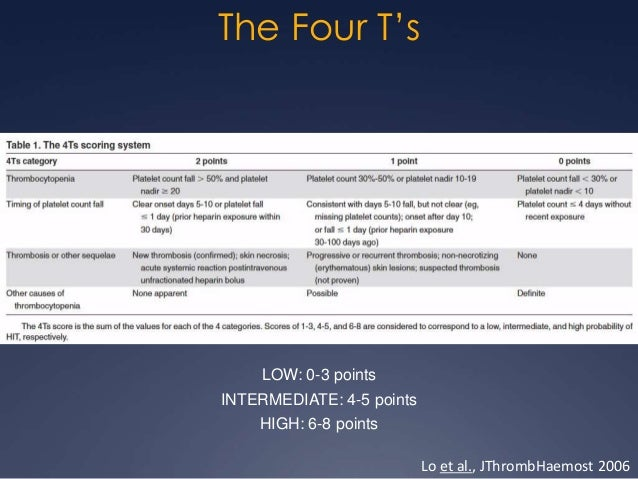 The Second T: Timing  For most patients, the drop will begin 5-10d after  the initiation of heparin (nadir 10-14d)   Upw...