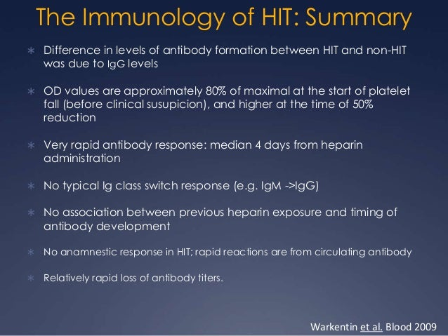 HIT:  CLINICAL DIAGNOSIS