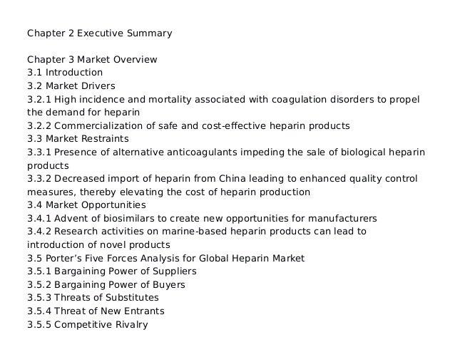 Global heparin market