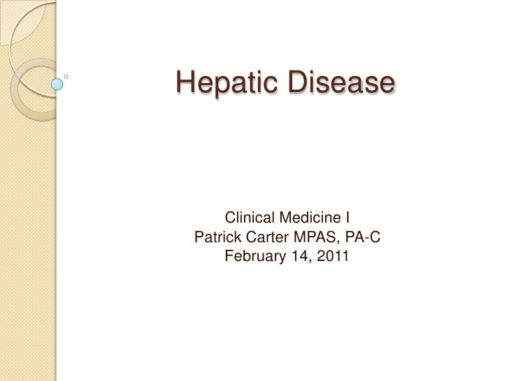 Hepatic Disease
