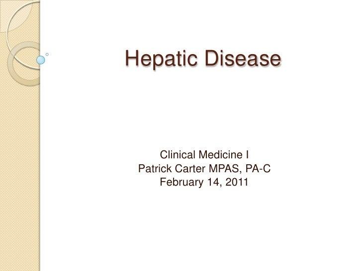Hepatic disease
