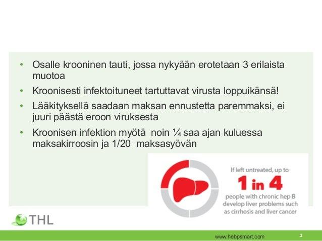 Hepatiitti B - epidemiologia ja tautitaakka Suomessa