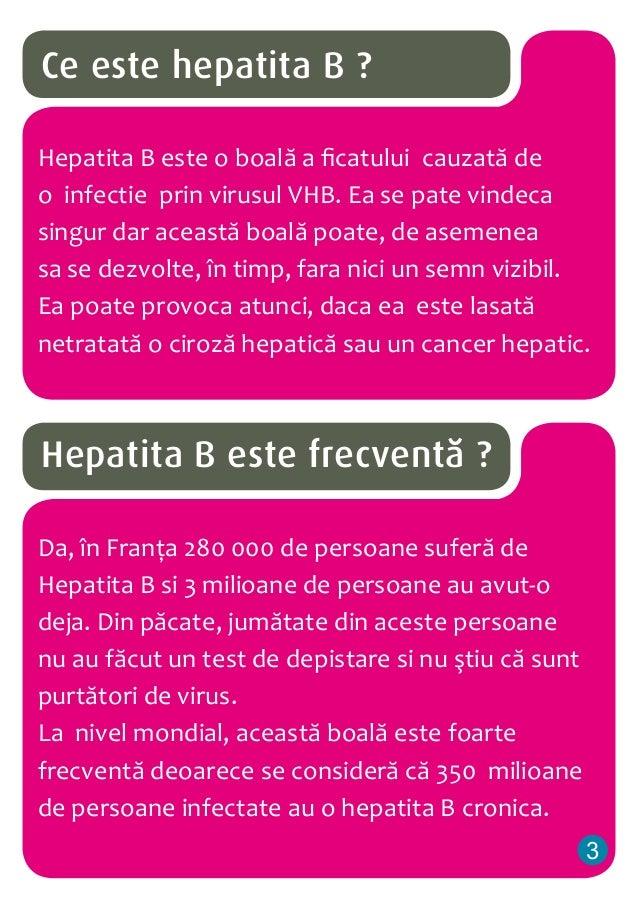 Ce este hepatita B ? Hepatita B este o boală a ficatului cauzată de o infectie prin virusul VHB. Ea se pate vindeca singur...