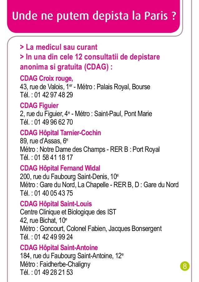 Unde ne putem depista la Paris ? > La medicul sau curant > In una din cele 12 consultatii de depistare anonima si gratuita...
