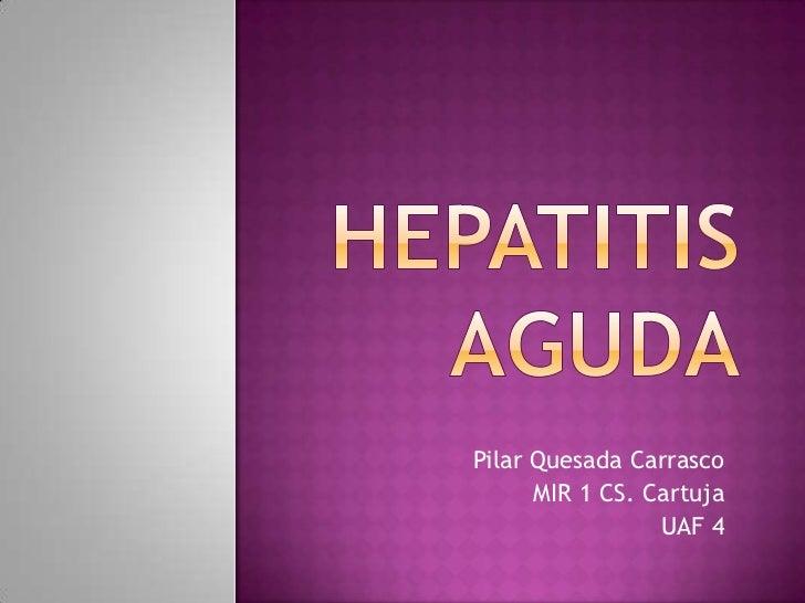 Pilar Quesada Carrasco      MIR 1 CS. Cartuja                 UAF 4