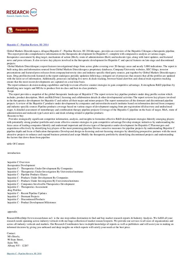 Hepatitis C - Pipeline Review, H1 2014 Global Markets Direct's, 'Hepatitis C - Pipeline Review, H1 2014'...