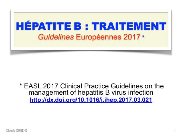Claude EUGENE HÉPATITE B : TRAITEMENT