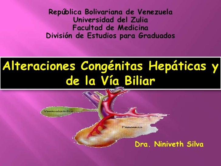 República Bolivariana de Venezuela               Universidad del Zulia               Facultad de Medicina       División d...