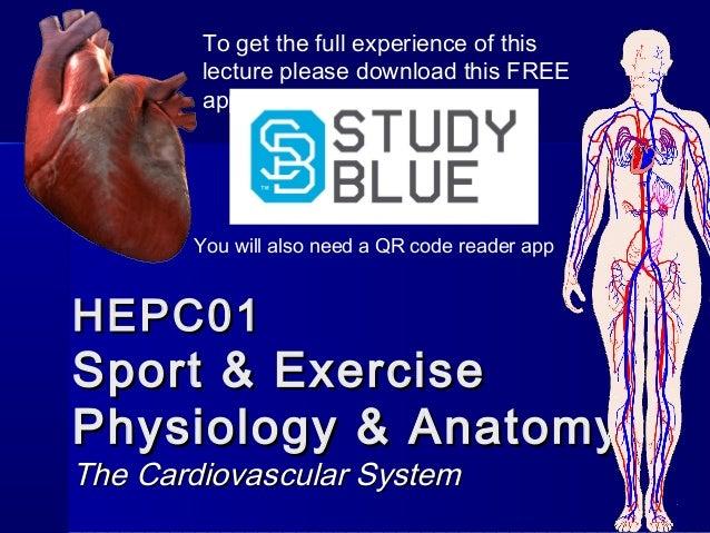 HEPC01HEPC01 Sport & ExerciseSport & Exercise Physiology & AnatomyPhysiology & Anatomy The Cardiovascular SystemThe Cardio...
