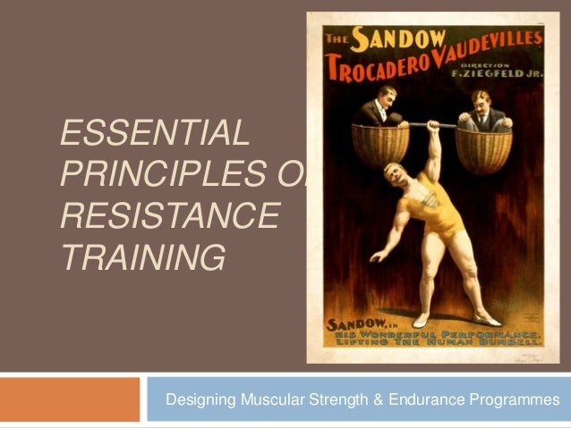 ESSENTIAL PRINCIPLES OF RESISTANCE TRAINING  Designing Muscular Strength & Endurance Programmes
