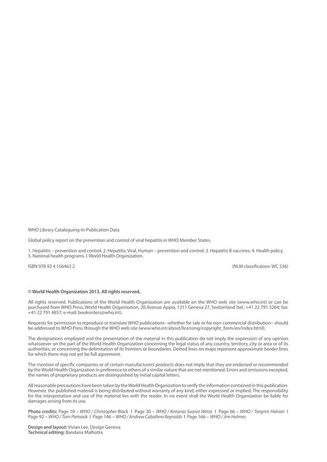 © World Health Organization 2013. All rights reserved. All rights reserved. Publications of the World Health Organization ...