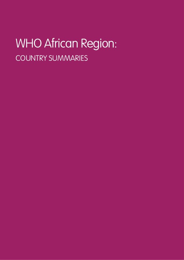 17 GLOBAL POLICY REPORT ON THE PREVENTION AND CONTROL OF VIRAL HEPATITIS Cameroon The Government of Cameroon reports as fo...
