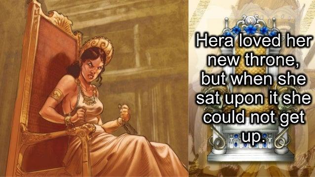 Hephaestus and Hera's throne