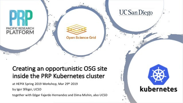 Creating an opportunistic OSG site inside the PRP Kubernetes