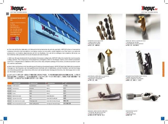 3332MANUFACTURAS HEPYCS.A.Polígono Industrial Ibarluze,57 E-izq.20120 Hernani(Gipuzkoa) SpainTel.: +34 943 335 040Fax: +34...