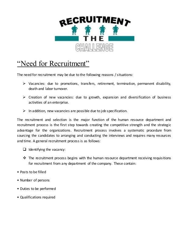 a summer trainng report on recruitment Indian institute of integrative medicine.