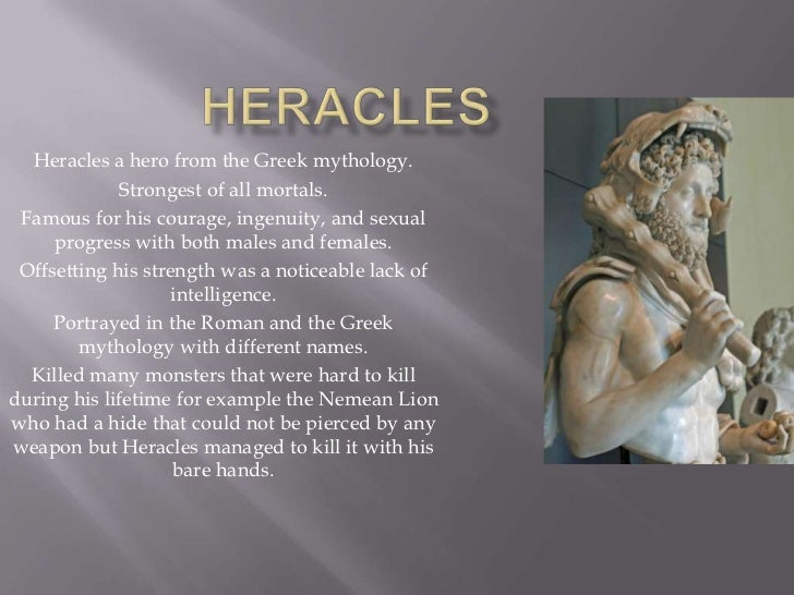 The strength and courage of heracles in the classical mythology