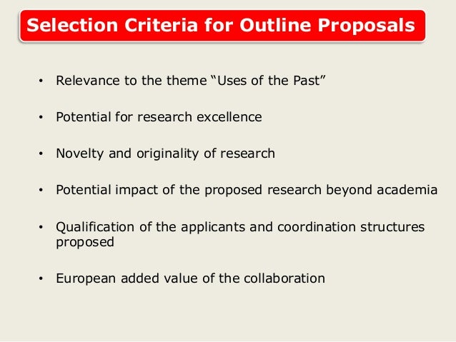 jrp proposal Proposals outside of the thematic area defined above will not be accepted 4  eligibility each proposal for a jrp must have at least one main.