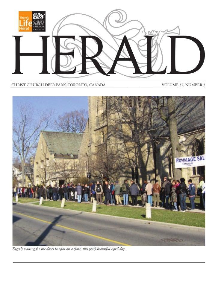 HERALDCHRIST CHURCH DEER PARK, TORONTO, CANADA                                            VOLUME 37, NUMBER 3Eagerly waiti...