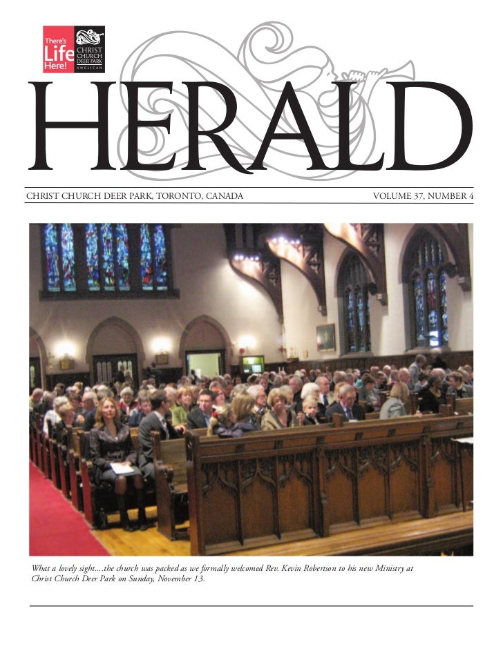 HERALDCHRIST CHURCH DEER PARK, TORONTO, CANADA                                                            VOLUME 37, NUMBE...