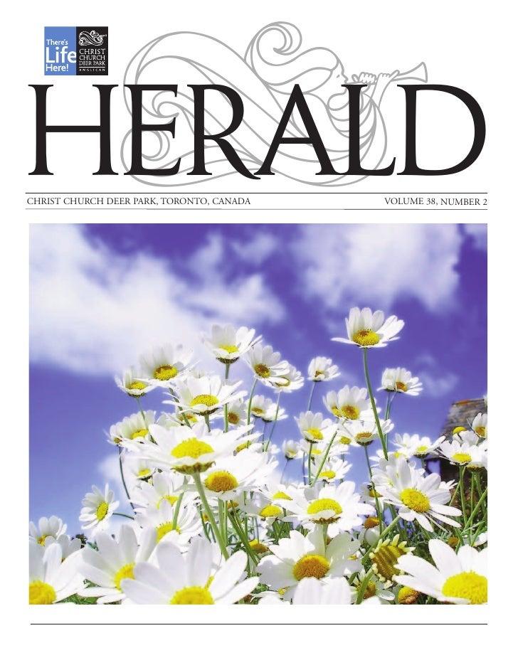 HERALDCHRIST CHURCH DEER PARK, TORONTO, CANADA   VOLUME 38, NUMBER 2
