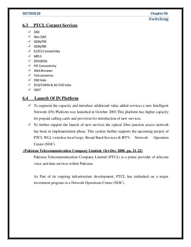 Ptcl internship report 46 spiritdancerdesigns Images
