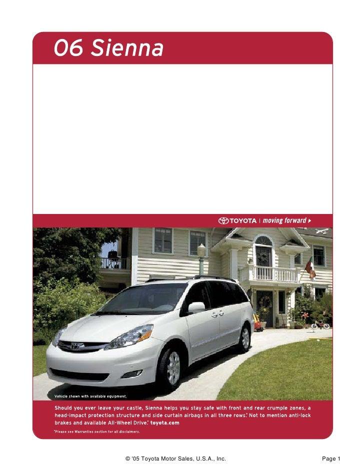 © '05 Toyota Motor Sales, U.S.A., Inc.   Page 1