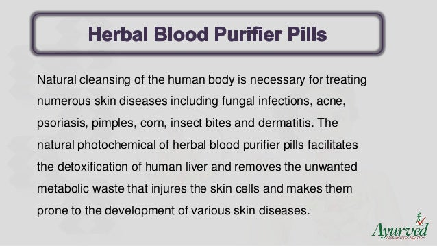 Herbal blood purifier pills to detoxify skin which one work