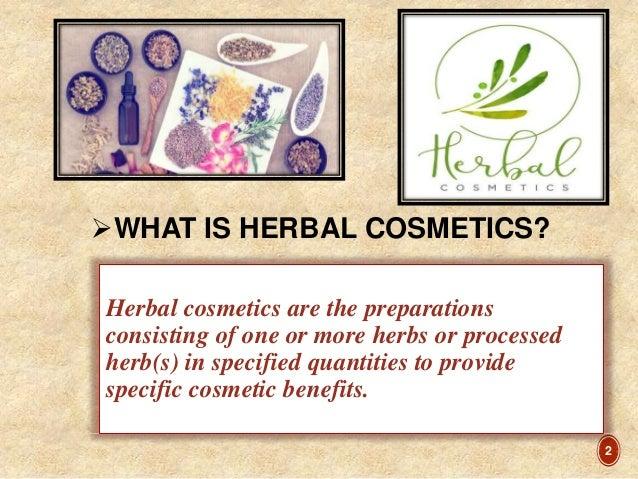 Herbal cosmetics seminar Slide 2