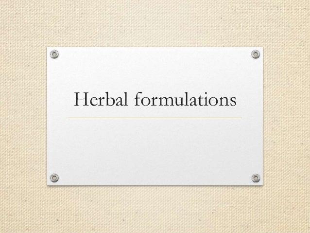 Herbal formulations