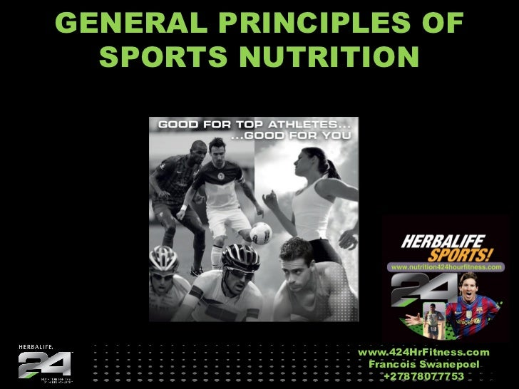 GENERAL PRINCIPLES OF  SPORTS NUTRITION               www.424HrFitness.com                Francois Swanepoel              ...