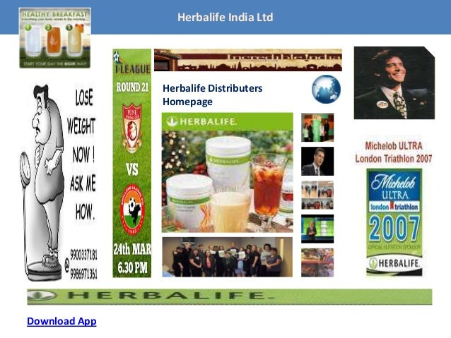 Homepage-App Herbalife India Ltd Herbalife Distributers Homepage Download App