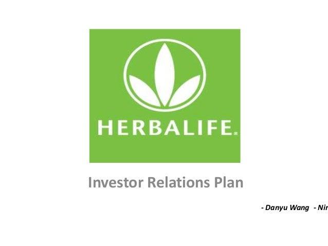 Investor Relations Plan- Danyu Wang- Nir