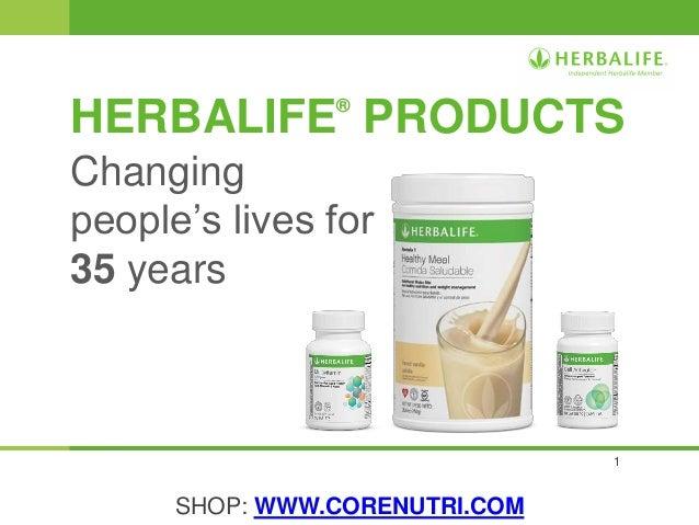 Herbalife Product Presentation - www.corenutri.com