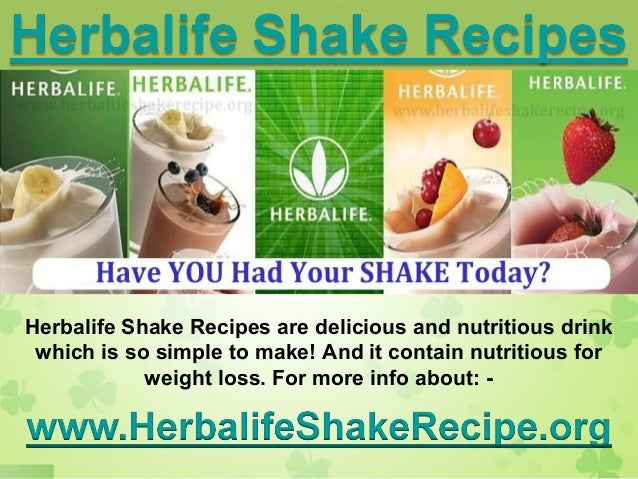weight loss shake recipes that work