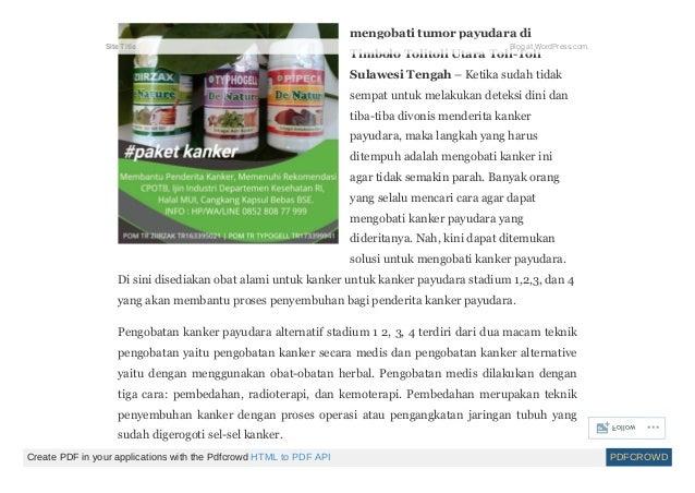 Herbal kanker payudara