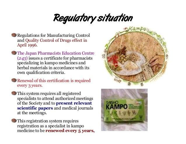 Herbal regulation