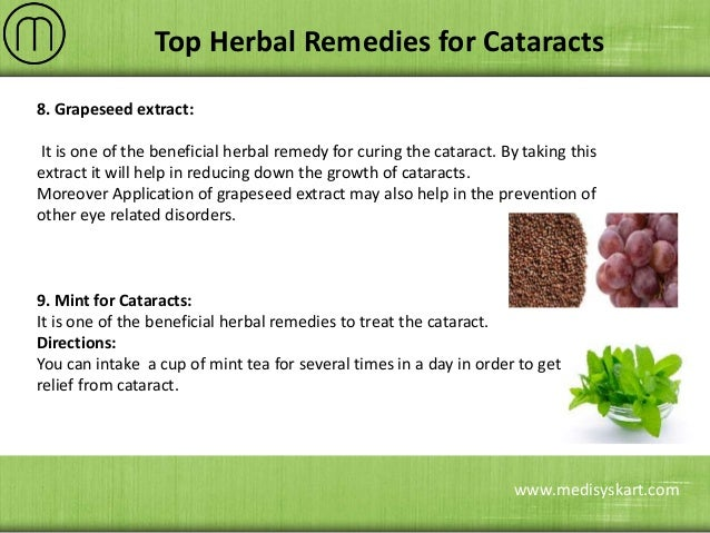 Herbal Remedies for Cataracts Treatment