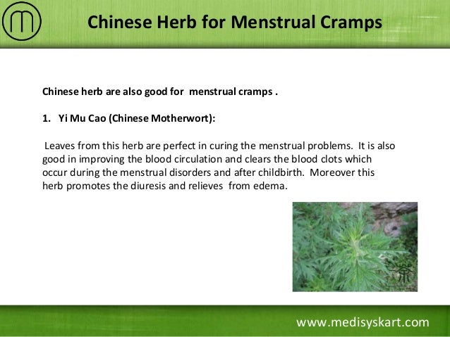 best herbs for cramps