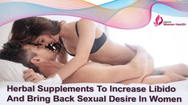 increase sexual desire for women