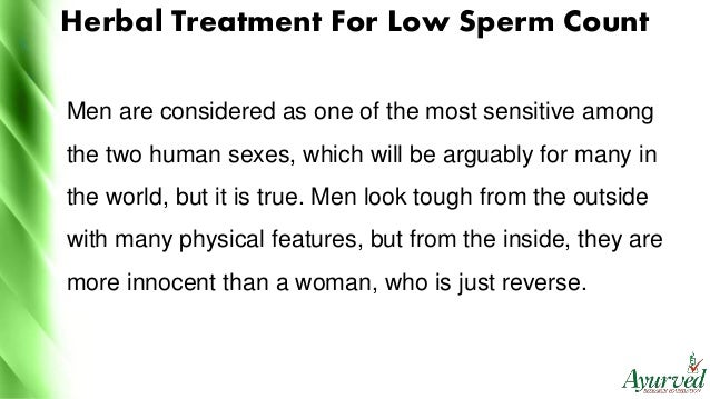 Physical sperm count for men
