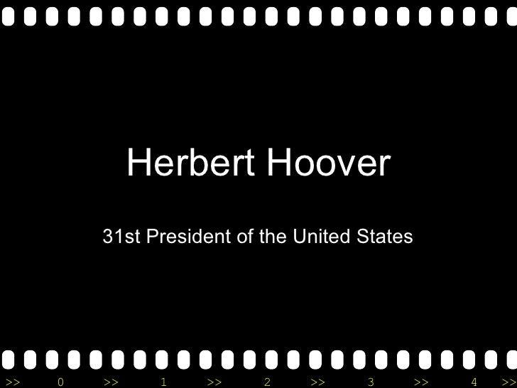 Herbert Hoover 31st President of the United States