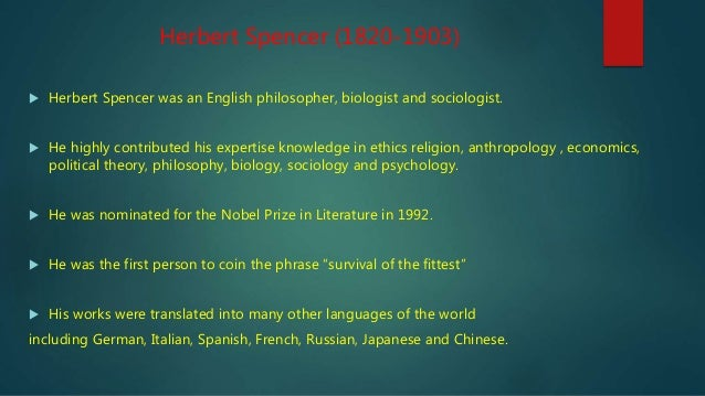 The life and early career of herbert spencer