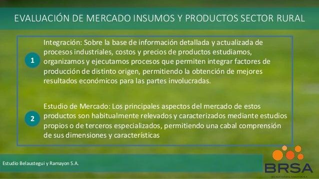 Integración: Sobre la base de información detallada y actualizada de procesos industriales, costos y precios de productos ...
