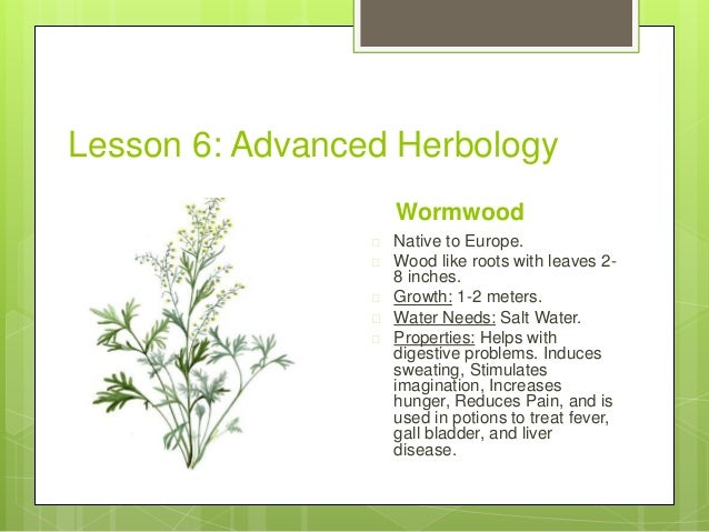 Herbology Review 101 Herbology 101 Project