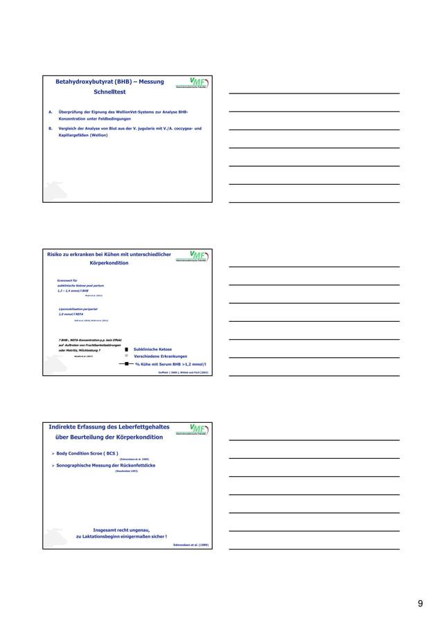 9 Betahydroxybutyrat (BHB) – Messung Schnelltest A. Überprüfung der Eignung des WellionVet-Systems zur Analyse BHB- Konzen...