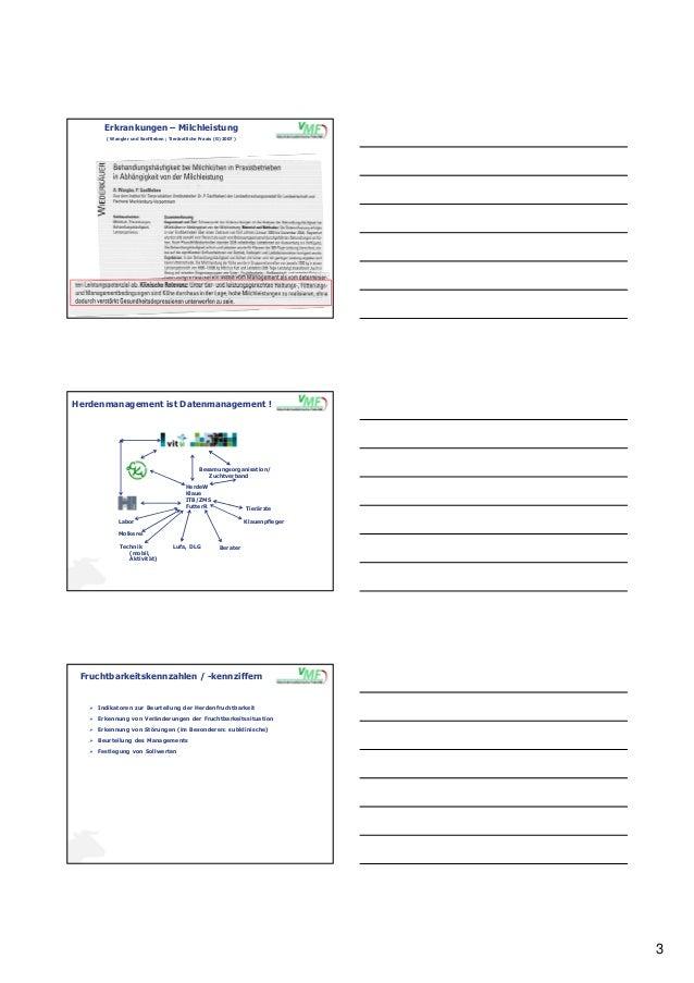3 Erkrankungen – Milchleistung ( Wangler und Sanftleben ; Tierärztliche Praxis (G) 2007 ) Herdenmanagement ist Datenmanage...