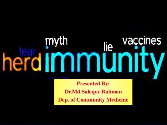 Presented By: Dr.Md.Salequr Rahman Dep. of Community Medicine