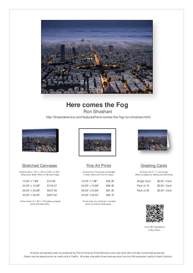 Here comes the FogRon Shoshanihttp://fineartamerica.com/featured/here-comes-the-fog-ron-shoshani.htmlStretched CanvasesStr...