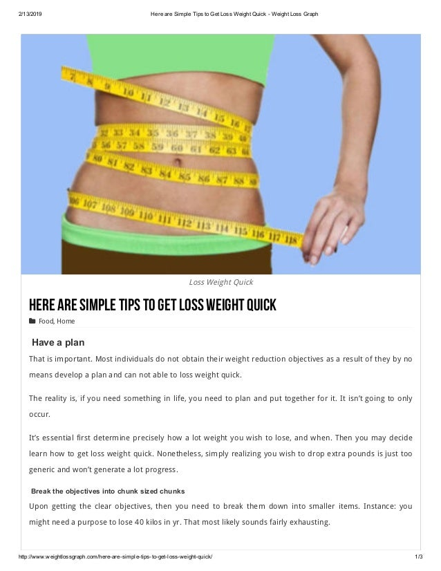 Here Are Simple Tips To Get Loss Weight Quick Weight Loss Graph